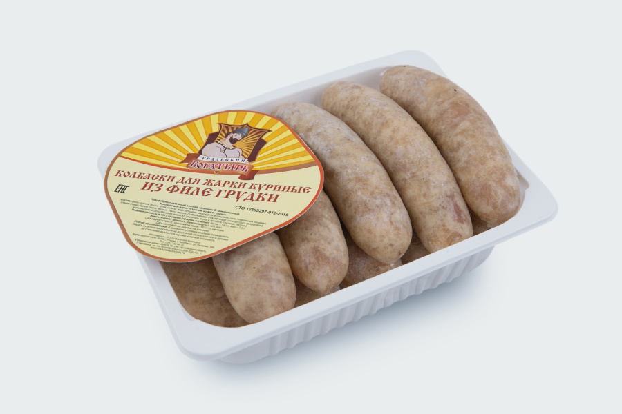 Колбаски для жарки куриные из филе грудки